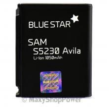 BATTERIA ORIGINALE BLUE STAR 3,7V 1050mAh  IONI LITIO PER SAMSUNG STAR S5230 NERA BLACK NE W NUOVA  IDEA REGALO - SU WWW.MAXYSHOPPOWER.COM