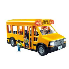 Playmobil School Bus - $25 (has battery powered lights and comes with 3 kid figures and a bus driver)