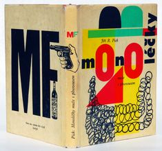 Jiri R. Pick, Muze s Plnovousem (Man With a Beard), 1961. Book design & jacket by Milos Noll.