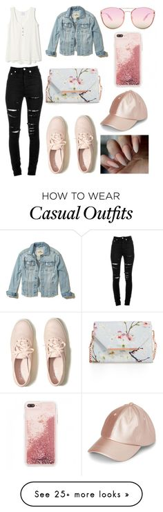 """Casual"" by keyshla02 on Polyvore featuring Hollister Co., Yves Saint Laurent, Ted Baker and Quay"