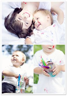 Mommy & Me Paint Session by Dainty Blue Photography... Love this idea!