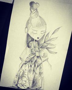 China girl- fashion illustration