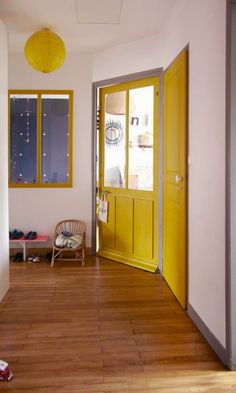 Yellow house on the beach: white, vintage, and color