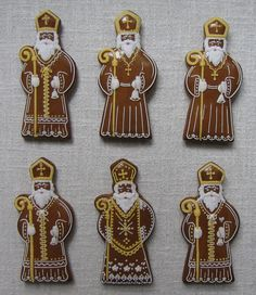 Christmas Images, Christmas And New Year, Christmas Crafts, Merry Christmas, Gingerbread Cookies, Christmas Cookies, Gingerbread House Designs, Saint Nicholas, Iced Cookies