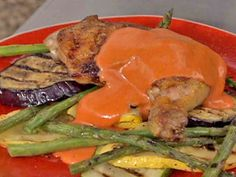 Get this all-star, easy-to-follow Smoked Red Pepper Sauce recipe from Bobby Flay