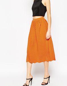 Image 4 ofASOS Chevron Pleated Midi Skirt
