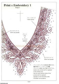 Вышивка бисером горловины платья схемы
