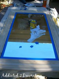 Framed Mirror From Builders-Grade Plate Glass Mirror - Addicted 2 Decorating®