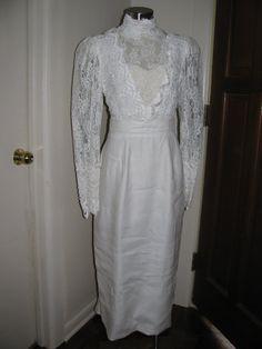 Vintage 80s Wedding Dress  Jessica by HaywoodCreekVintage on Etsy, $80.00