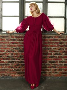 I would shorten this dress, but love the color.