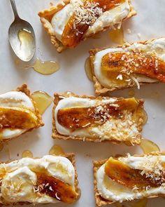 Honey Cream Tarts With Caramelized Banana And Toasted Coconut • spoonforkbacon (scheduled via http://www.tailwindapp.com?utm_source=pinterest&utm_medium=twpin)