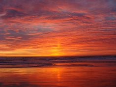 Sunset taken at Salinas River State Beach, in Monterey County, California.