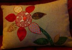 Front of my appliqued cushion