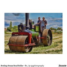 Aveling Steam Road Roller - Front Cutting Boards