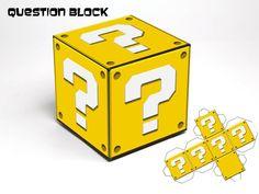 Blocos de Super Mario Bros, modelo para impressão Praça Box Coleção Donwnload instantâneo