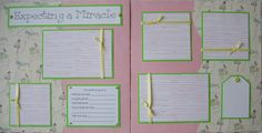 Really cute baby scrapbook page