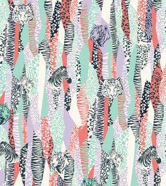 Safari animals wallpaper for UMA Buenos Aires. Motifs Textiles, Textile Patterns, Textile Prints, Textile Design, Print Patterns, Animal Wallpaper, Fabric Wallpaper, Pattern Wallpaper, Pattern Drawing