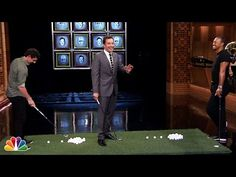 Jimmy Fallon and rory mcilroy play face breakers on the tonight show (with tiger woods)