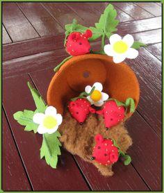 strawberry felt mice