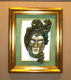 Máscara veneciana enmarcada en Aratz Enmarcaciones