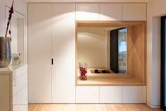 New hallway storage cupboard ideas 45 ideas Flur Design, Hall Design, Hallway Storage, Cupboard Storage, Cupboard Ideas, Design Hall Entrada, Armoire Entree, Home Interior Design, Interior Decorating