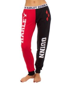 Another great find on #zulily! 'Harley Quinn' Jogger Pants by Undergirl #zulilyfinds