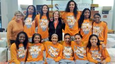 2014 Pat watching the selection show with The Lady Vols