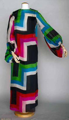 Pierre Cardin Silk Evening Gown, Paris, 1970s, Augusta Auctions, November 13, 2013 - NYC, Lot 230