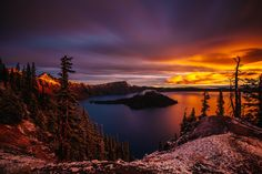 ***Sunrise over the awe-inspiring Crater Lake in Oregon. by Jordan Edgcomb on 500px