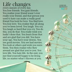 Life changes.