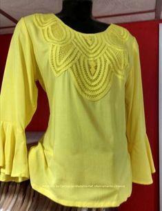 BLUSAS - PRIMAVERAL Bordados y Accesorios Shirt Blouses, Shirts, Smocking, Blouse Designs, Ruffle Blouse, Victoria, Glamour, Womens Fashion, Casual