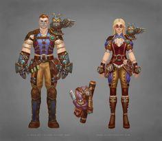 Allods Steampunk Costumes by Sokil-Su