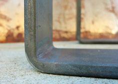 Metal Table Legs Flat bar Squared di SteelImpression su Etsy