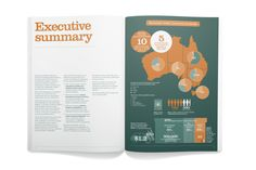 Internal spread from Suncorp thought-leadership publication