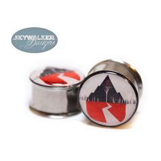 0g-9/16in Sleeping With Sirens Plugs ($15) ❤ liked on Polyvore