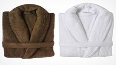 Luxury bathrobes in brown and white sweet warm ❤️❤️