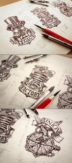 Incredible artwork of a one man design studio - Imgur