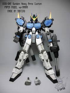 Gundam Paper: XXXG-01H2 Gundam Heavy Arms Custom ver,Rarra