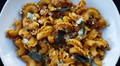 Macaroni with Chicken Sausage, Butternut Squash and Blue Cheese | Recipes - PureWow