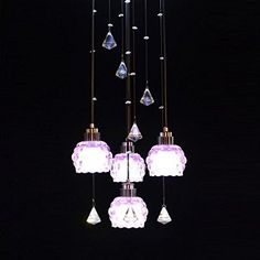 Romantic Purple Crystal LED Restaurant Pendant Lamp Fashi... https://www.amazon.co.uk/dp/B0188UNBD6/ref=cm_sw_r_pi_dp_zcuBxb2TZK0G6