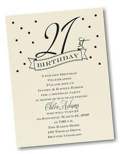21st Confetti Birthday Party Invitation