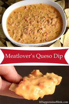 Meatlover's Queso Dip |   ItHappensinaBlink.com  #SamsClubTailgating #sponsored