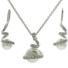 pearl jewelry with black accents - Google Search