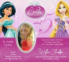 Disney Princess birthday invitation emailer