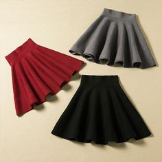 Lovely Mini Skirt For Autumn or Winter Nice Skirt 2015 Women Skirts - Mini Skirts - Ideas of Mini Skirts Fall Skirts, Cute Skirts, Mini Skirts, Pencil Skirts, Winter Rock, Mode Grunge, Jugend Mode Outfits, Burgundy Skirt, Bohemian Mode