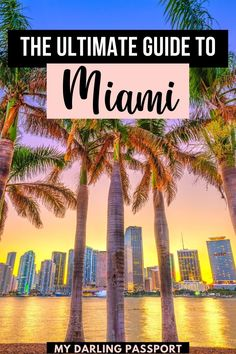 The Ultimate Guide to Miami. Miami is one of the best places to visit when you want tropical vibes without breaking the bank. It is a mix of city and beach, culture and nightlife, old and new. It's a city that perfectly melds natures with glitz and glam. Check out this complete travel guide that covers the hippest hotels, tastiest restaurants and the best things to do in Miami. Miami Travel Guide | Miami Beach | Miami Travel | Miami Vacation | What to do in Miami | Florida Camping, Florida Travel, Travel Usa, Travel Tips, Florida Usa, Rv Camping, Travel Abroad, Canada Travel, Wanderlust Travel