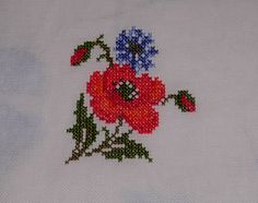 Cross Stitch Patterns, Diy And Crafts, Projects To Try, Embroidery, Poppies, Cross Stitch Embroidery, Block Prints, Appliques, Dressmaking