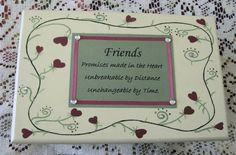 Custom Handpainted Wooden Box Bridesmaid by simpletreasures4you