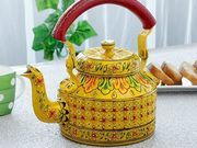 I Discovered this Hand made yellow tea kettle from India http://www.discovered.us/products/1310/hand-made-yellow-tea-kettle-from-india on @dscvrd