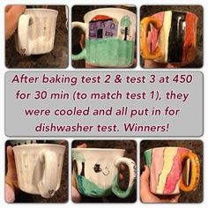 This pinner tested all of the Sharpie mug tutorials and determined that for the best results bake at 450 for 30 minutes